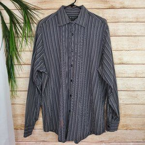 INC Mens Striped Long Sleeve Size XL